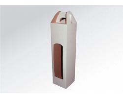 Papírová krabice na 1 lahev vína WINEBOX WHITE - 8 x 34,5 x 8 cm