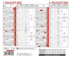 Plánovací karta 2022, 18x15 cm