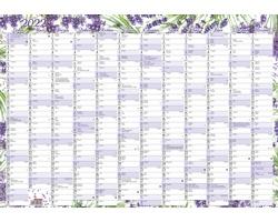 Nástěnný roční kalendář 2022, 60x42 cm - levandule