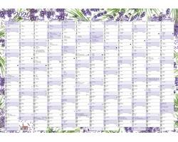 Nástěnný roční kalendář 2020, 600x420 mm - levandule