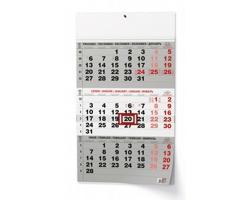 Tříměsíční nástěnný kalendář s mezinárodními svátky 2022 - černá