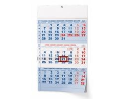Tříměsíční kalendář s mezinárodními svátky 2019 - modrá