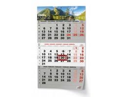 Tříměsíční nástěnný kalendář s mezinárodními svátky 2022 - příroda