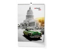 Nástěnný kalendář Metropole 2021