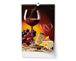 Nástěnný kalendář Víno 2022