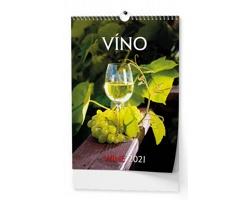 VÝPRODEJ: Nástěnný kalendář Víno 2019