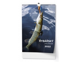 Nástěnný kalendář Rybářský kalendář 2022