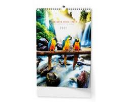 VÝPRODEJ: Nástěnný kalendář Pohádková místa 2019