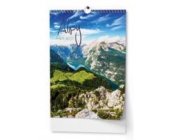 Nástěnný kalendář Alpy 2022