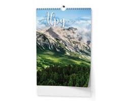 Nástěnný kalendář Alpy 2021