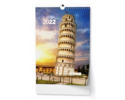 Nástěnný kalendář Evropa 2022