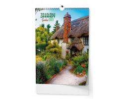 VÝPRODEJ: Nástěnný kalendář Zahrady 2019
