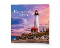 Nástěnný kalendář Romantická místa 2021