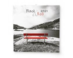 Nástěnný kalendář Black&Red 2021