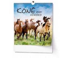 VÝPRODEJ: Nástěnný kalendář Koně 2019 - IDEÁL