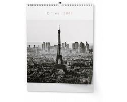 Nástěnný kalendář Cities 2020, 45x52cm