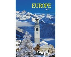 Nástěnný kalendář Europe 2021
