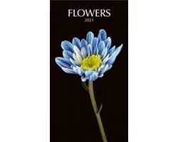 Nástěnný kalendář Flowers black 2021