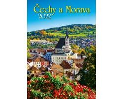 Nástěnný kalendář Čechy a Morava 2022