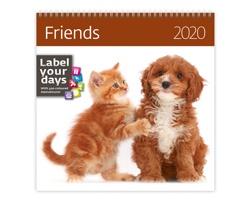 Nástěnný kalendář Friends 2020 - se samolepkami