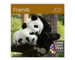 Nástěnný kalendář Friends 2021