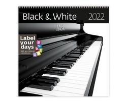 Nástěnný kalendář Black & White 2022