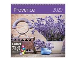 Nástěnný kalendář Provence 2020 - se samolepkami