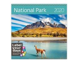 Nástěnný kalendář National Parks 2020 - se samolepkami