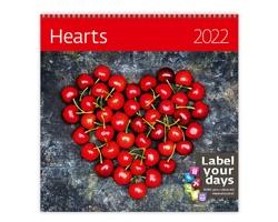 Nástěnný kalendář Hearts 2022