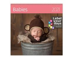 Nástěnný kalendář Babies 2021