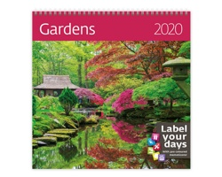 Nástěnný kalendář Gardens 2020 - se samolepkami
