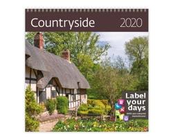 Nástěnný kalendář Countryside 2020 - se samolepkami