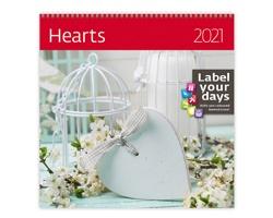 Nástěnný kalendář Hearts 2021