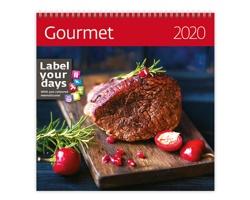 Nástěnný kalendář Gourmet 2020 - se samolepkami