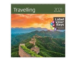 Nástěnný kalendář Travelling 2021