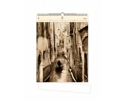 Luxusní dřevěný nástěnný kalendář Venezia 2021