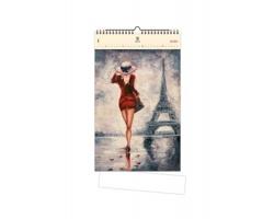 Luxusní dřevěný nástěnný kalendář Paris 2020