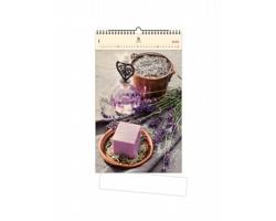 Luxusní dřevěný nástěnný kalendář Provence 2021