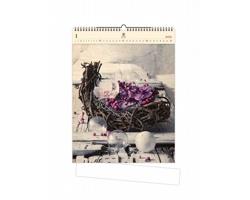 Luxusní dřevěný nástěnný kalendář Design 2021