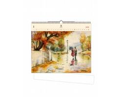 Luxusní dřevěný nástěnný kalendář Romance 2021