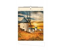 Luxusní dřevěný nástěnný kalendář Mills 2020
