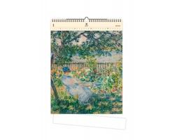 Luxusní dřevěný nástěnný kalendář Impressionism 2020