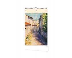 Luxusní dřevěný nástěnný kalendář Old Street 2020