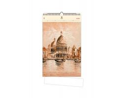 Luxusní dřevěný nástěnný kalendář Venezia II. 2020