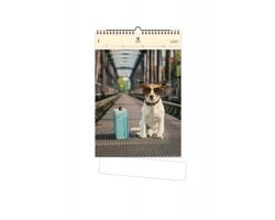 Luxusní dřevěný nástěnný kalendář Dog 2020