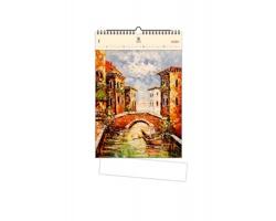 Luxusní dřevěný nástěnný kalendář Venezia III 2020