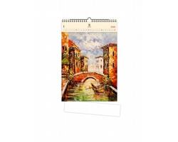 Luxusní dřevěný nástěnný kalendář Venezia III. 2021