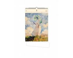 Luxusní dřevěný nástěnný kalendář Monet 2021