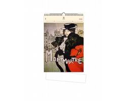 Luxusní dřevěný nástěnný kalendář Montmartre 2021