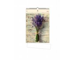 Luxusní dřevěný nástěnný kalendář Lavender 2021